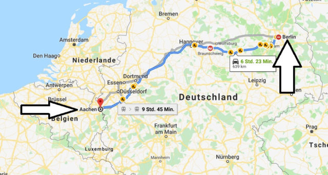 Wo liegt Aachen - Wo ist Aachen - in welchem Land - Welcher Kontinent ist Aachen