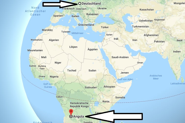 Wo liegt Angola? in welchem Land? Welcher Kontinent ist Angola? Wo ist Angola?