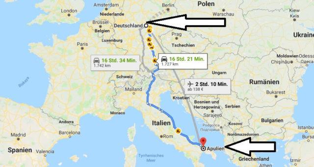 Wo liegt Apulien? Wo ist Apulien? in welchem Land? Welcher Kontinent ist Apulien?