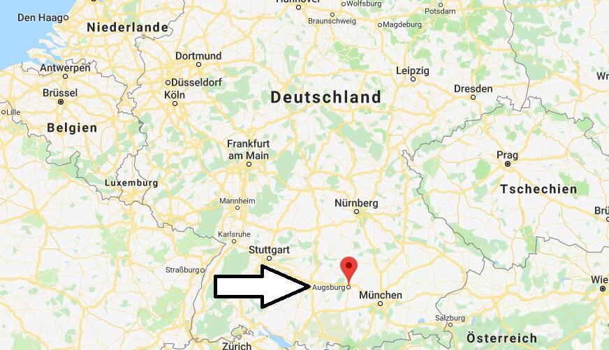 Wo liegt Augsburg? Wo ist Augsburg? in welchem Land? Welcher Kontinent ist Augsburg?