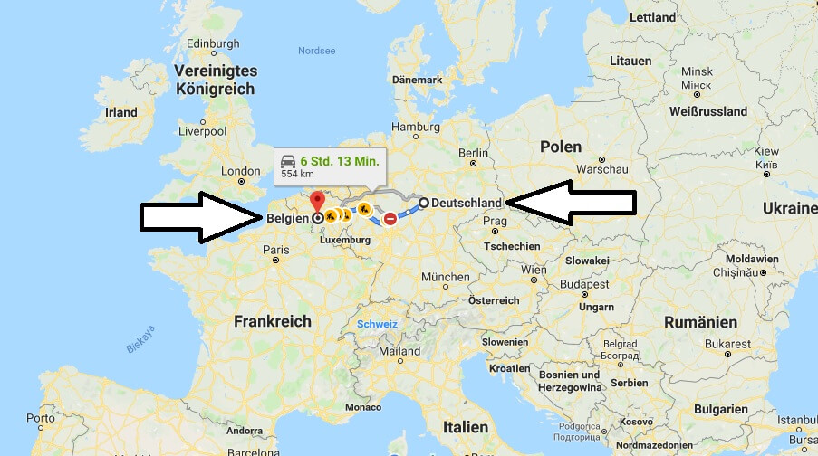Wo liegt Belgien? Wo ist Belgien? in welchem Land? Welcher Kontinent ist Belgien?