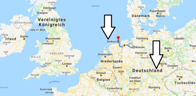 Wo liegt Borkum? Wo ist Borkum? in welchem Land? Welcher Kontinent ist Borkum?