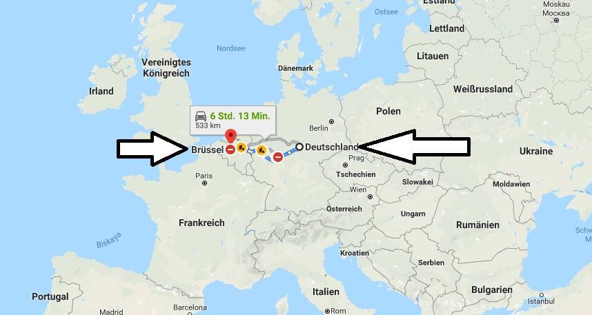 Wo liegt Brüssel? Wo ist Brüssel? in welchem Land? Welcher Kontinent ist Brüssel?