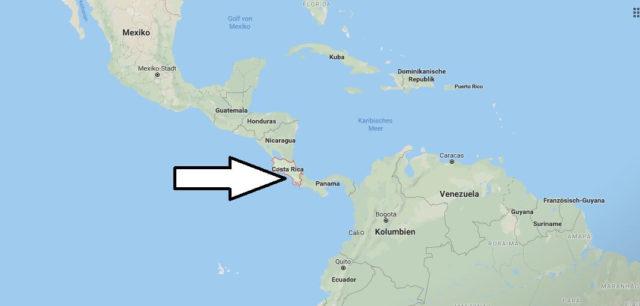 Wo liegt Costa Rica? Wo ist Costa Rica? in welchem Land? Welcher Kontinent ist Costa Rica?