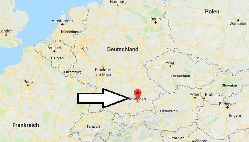 München Karte Deutschland.Wo Liegt München Wo Ist München In Welchem Land Welcher Kontinent