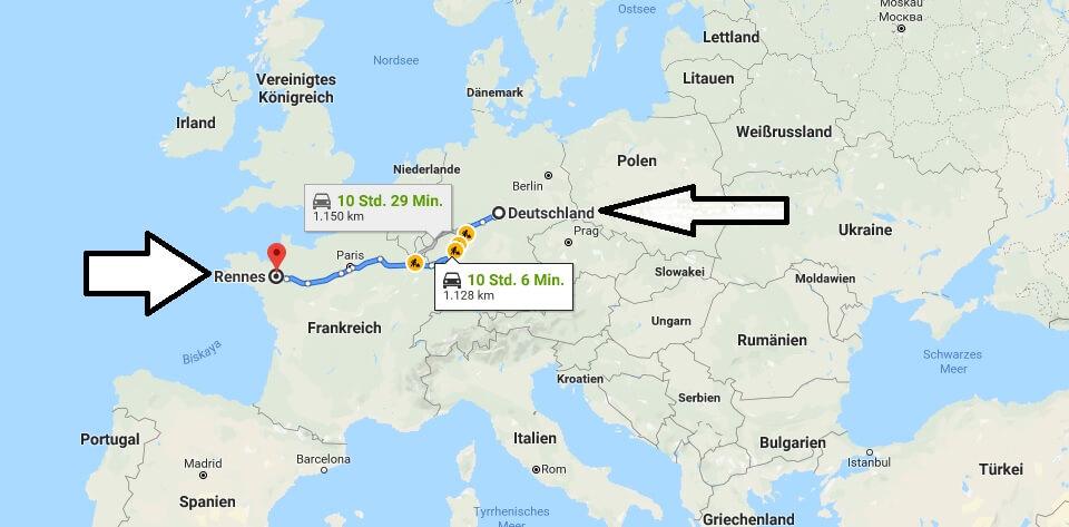 Wo liegt Rennes? Wo ist Rennes? in welchem Land? Welcher Kontinent ist Rennes?