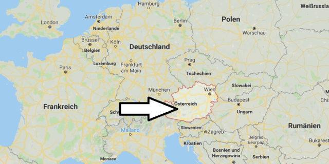 Wo liegt Österreich? Wo ist Österreich? in welchem Land? Welcher Kontinent ist Österreich?