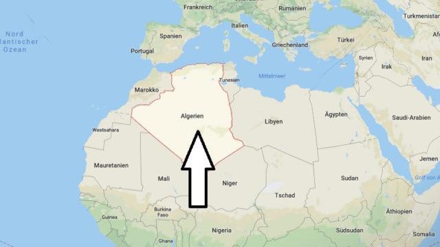 Wo liegt Algerien? Wo ist Algerien? in welchem Land? Welcher Kontinent ist Algerien?