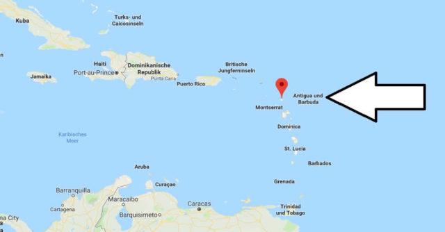 Wo liegt Antigua und Barbuda? Wo ist Antigua und Barbuda? in welchem Land? Welcher Kontinent ist Antigua und Barbuda?