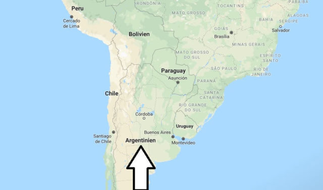 Wo liegt Argentinien? Wo ist Argentinien? in welchem Land? Welcher Kontinent ist Argentinien?