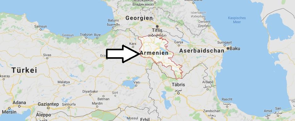Wo liegt Armenien? Wo ist Armenien? in welchem Land? Welcher Kontinent ist Armenien?