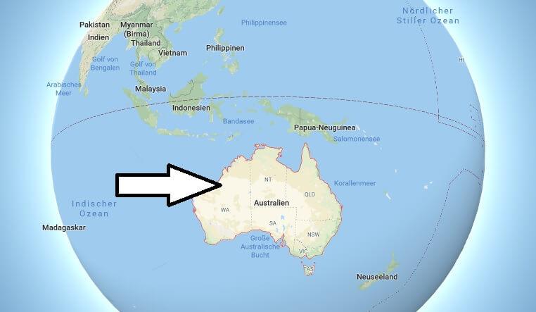 Wo liegt Australien? Wo ist Australien? in welchem Land? Welcher Kontinent ist Australien?
