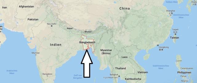 Wo liegt Bangladesch? Wo ist Bangladesch? in welchem Land? Welcher Kontinent ist Bangladesch?
