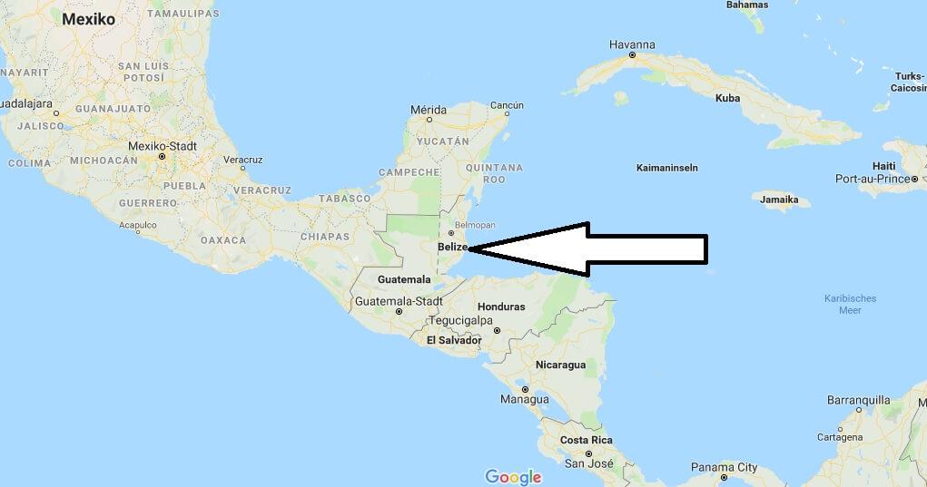 Wo liegt Belize? Wo ist Belize? in welchem Land? Welcher Kontinent ist Belize?
