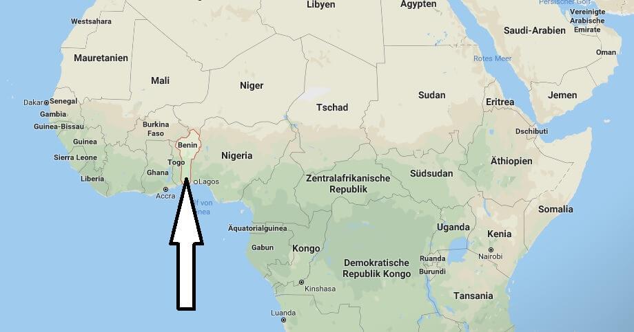 Wo liegt Benin? Wo ist Benin? in welchem Land? Welcher Kontinent ist Benin?