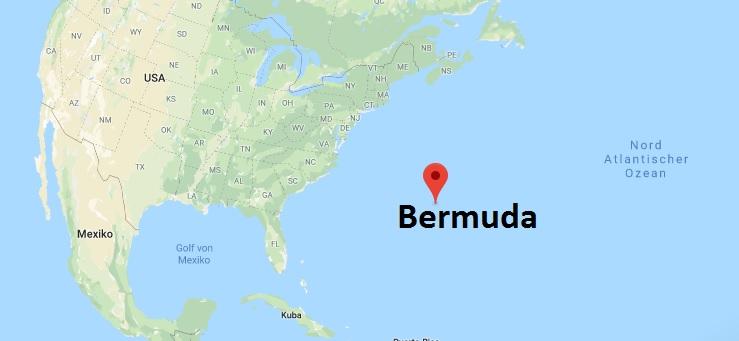 Wo liegt Bermuda? Wo ist Bermuda? in welchem Land? Welcher Kontinent ist Bermuda?