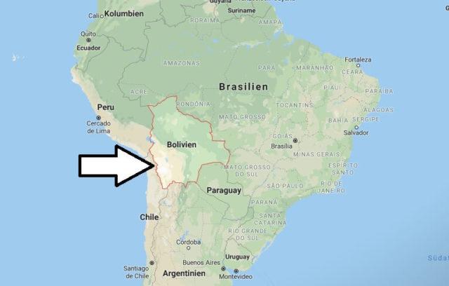 Wo liegt Bolivien? Wo ist Bolivien? in welchem Land? Welcher Kontinent ist Bolivien?
