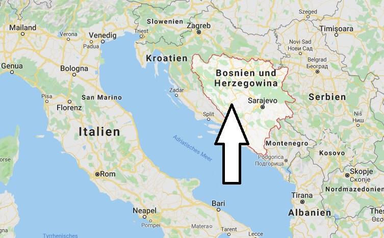 Wo liegt Bosnien und Herzegowina? Wo ist Bosnien und Herzegowina? in welchem Land? Welcher Kontinent ist Bosnien und Herzegowina?