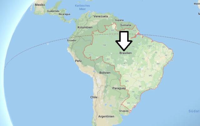 Wo liegt Brasilien? Wo ist Brasilien? in welchem Land? Welcher Kontinent ist Brasilien?