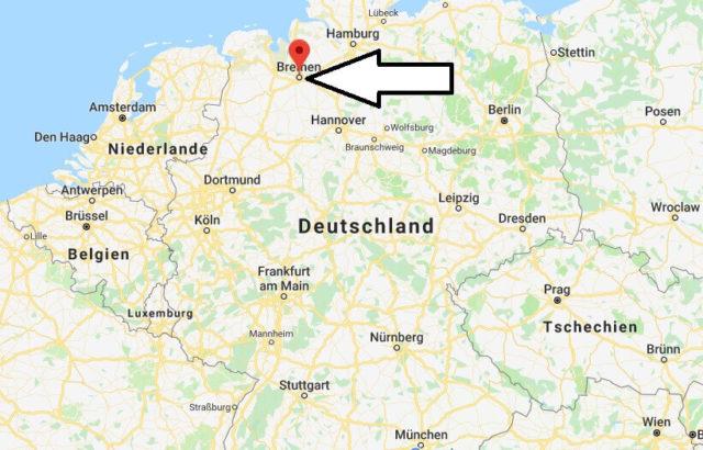 Wo liegt Bremen? Wo ist Bremen? in welchem Land? Welcher Kontinent ist Bremen?