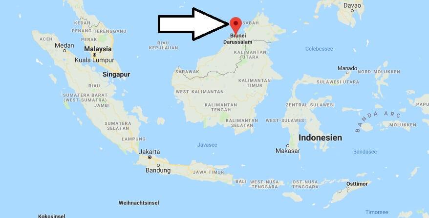 Wo liegt Brunei? Wo ist Brunei? in welchem Land? Welcher Kontinent ist Brunei?