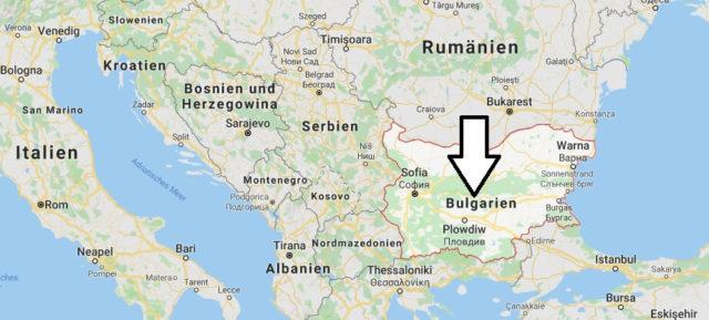 Wo liegt Bulgarien? Wo ist Bulgarien? in welchem Land? Welcher Kontinent ist Bulgarien?