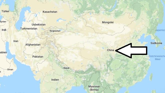 Wo liegt China? Wo ist China? in welchem Land? Welcher Kontinent ist China?