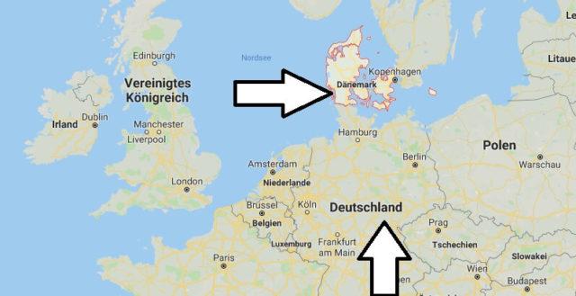 Wo liegt Dänemark? Wo ist Dänemark? in welchem Land? Welcher Kontinent ist Dänemark?