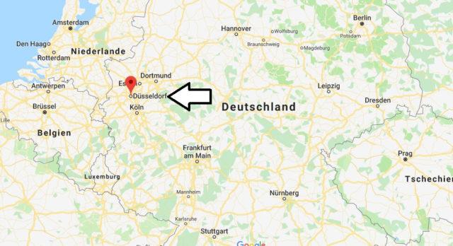 Wo liegt Düsseldorf? Wo ist Düsseldorf? in welchem Land? Welcher Kontinent ist Düsseldorf?