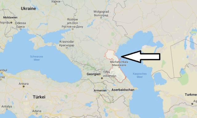 Wo liegt Dagestan? Wo ist Dagestan? in welchem Land? Welcher Kontinent ist Dagestan?