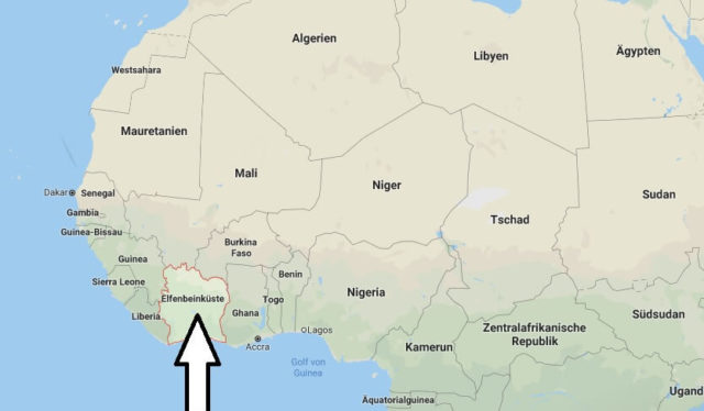 Wo liegt Elfenbeinküste? Wo ist Elfenbeinküste? in welchem Land? Welcher Kontinent ist Elfenbeinküste?