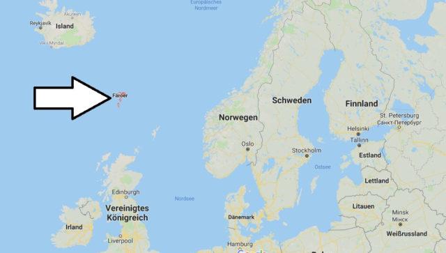 Wo liegt Färöer? Wo ist Färöer? in welchem Land? Welcher Kontinent ist Färöer?