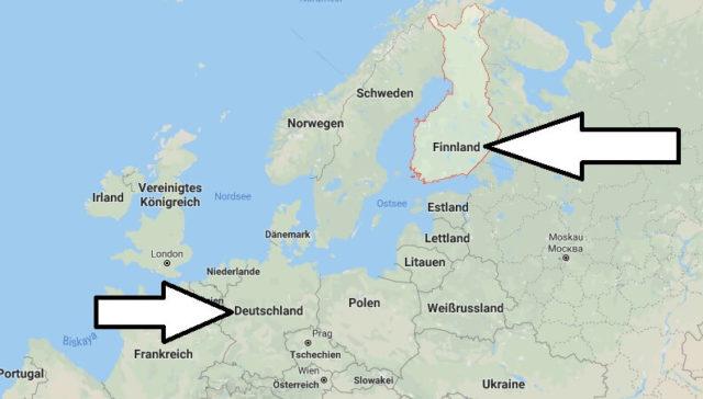 Wo liegt Finnland? Wo ist Finnland? in welchem Land? Welcher Kontinent ist Finnland?