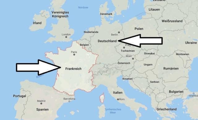 Wo liegt Frankreich? Wo ist Frankreich? in welchem Land? Welcher Kontinent ist Frankreich?