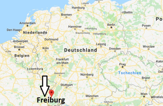 Wo liegt Freiburg? Wo ist Freiburg? in welchem Land? Welcher Kontinent ist Freiburg?