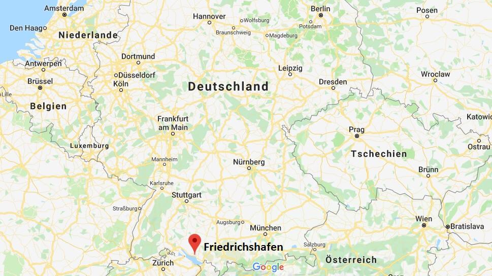 Wo liegt Friedrichshafen? Wo ist Friedrichshafen? in welchem Land? Welcher Kontinent ist Friedrichshafen?