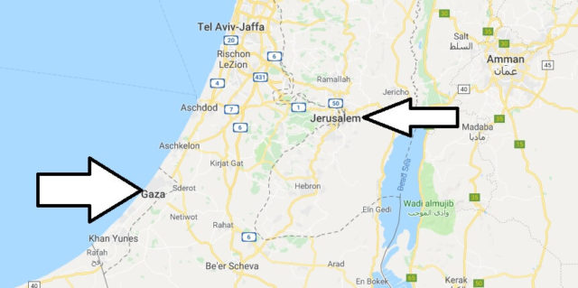 Wo liegt Gazastreifen? Wo ist Gazastreifen? in welchem Land? Welcher Kontinent ist Gazastreifen?