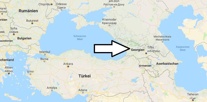 Wo liegt Georgien? Wo ist Georgien? in welchem Land? Welcher Kontinent ist Georgien?