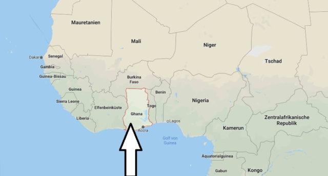 Wo liegt Ghana? Wo ist Ghana? in welchem Land? Welcher Kontinent ist Ghana?