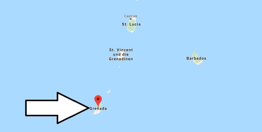 Wo liegt Grenada? Wo ist Grenada? in welchem Land? Welcher Kontinent ist Grenada?