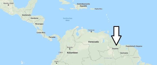 Wo liegt Guyana? Wo ist Guyana? in welchem Land? Welcher Kontinent ist Guyana?