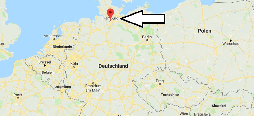 Wo liegt Hamburg? Wo ist Hamburg? in welchem Land? Welcher Kontinent ist Hamburg?