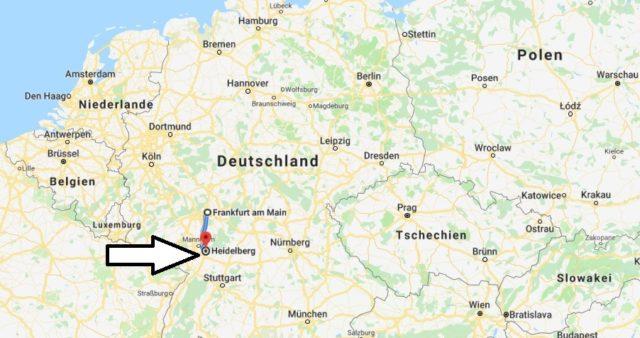 Wo liegt Heidelberg? Wo ist Heidelberg? in welchem Land? Welcher Kontinent ist Heidelberg?