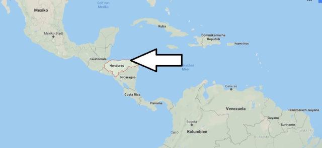 Wo liegt Honduras? Wo ist Honduras? in welchem Land? Welcher Kontinent ist Honduras?