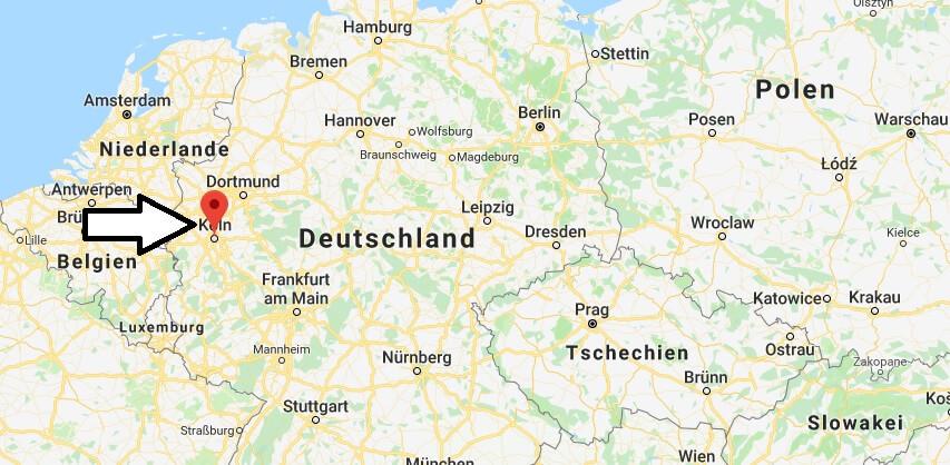 Wo liegt Köln? Wo ist Köln? in welchem Land? Welcher Kontinent ist Köln?