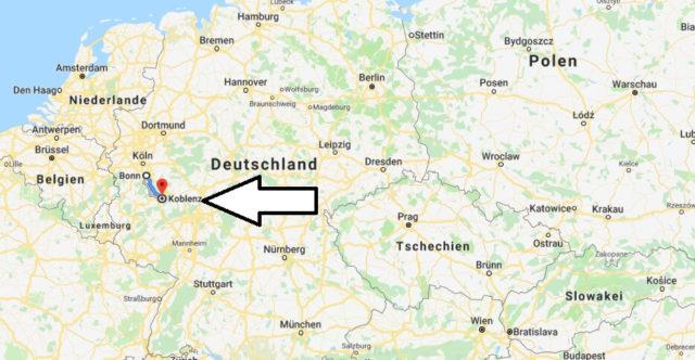 Wo liegt Koblenz? Wo ist Koblenz? in welchem Land? Welcher Kontinent ist Koblenz?