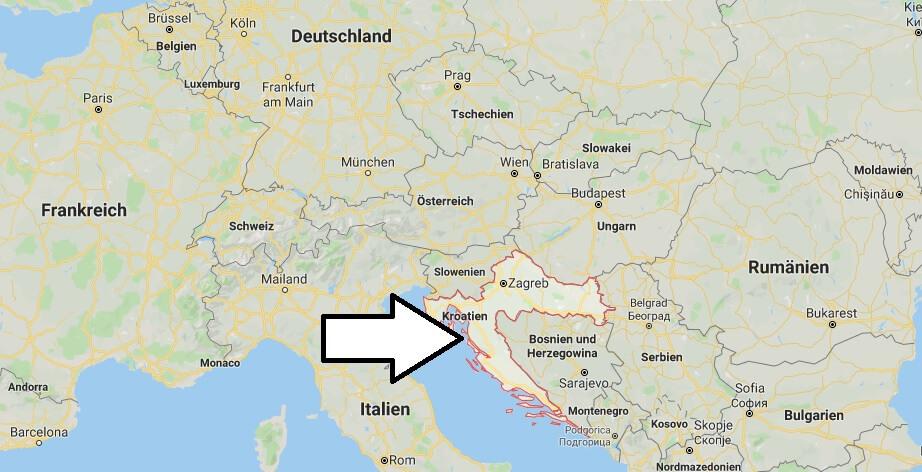 Wo liegt Kroatien? Wo ist Kroatien? in welchem Land? Welcher Kontinent ist Kroatien?