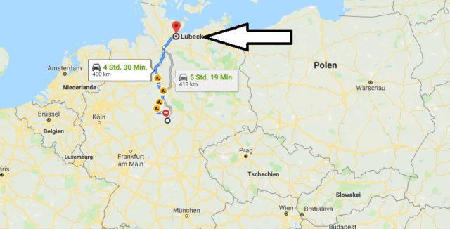 Wo liegt Lübeck? Wo ist Lübeck? in welchem Land? Welcher Kontinent ist Lübeck?
