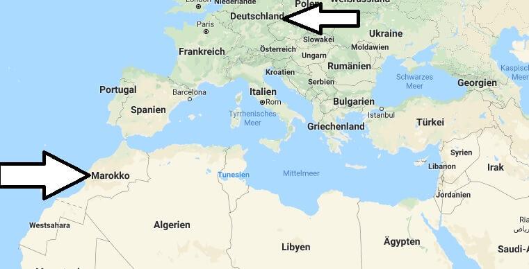 Wo liegt Marokko? Wo ist Marokko? in welchem Land? Welcher Kontinent ist Marokko?