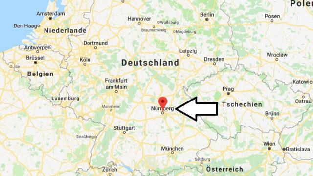 Wo liegt Nürnberg? Wo ist Nürnberg? in welchem Land? Welcher Kontinent ist Nürnberg?
